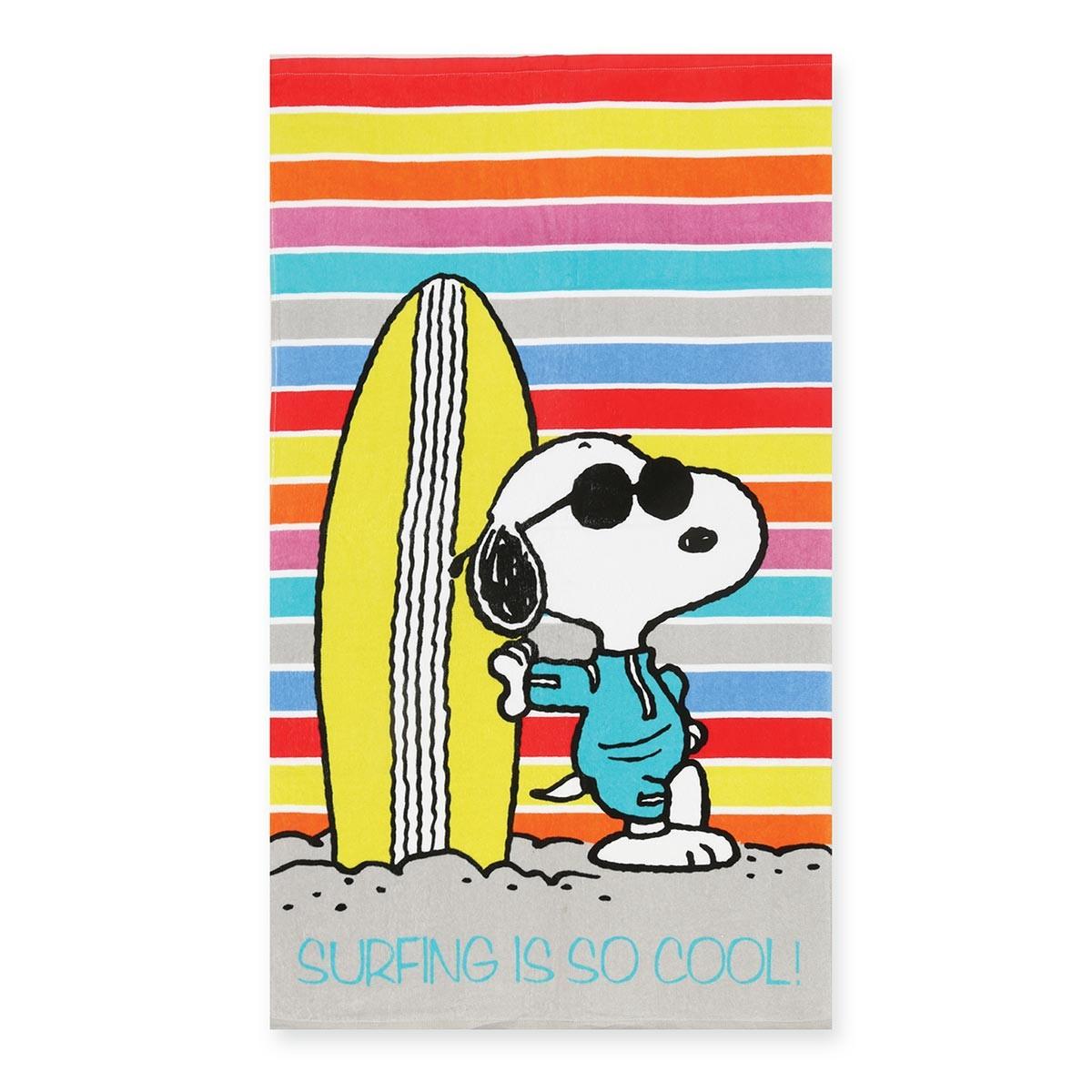Παιδική Πετσέτα Θαλάσσης Nef-Nef Snoopy Surf home   θαλάσσης   πετσέτες θαλάσσης παιδικές