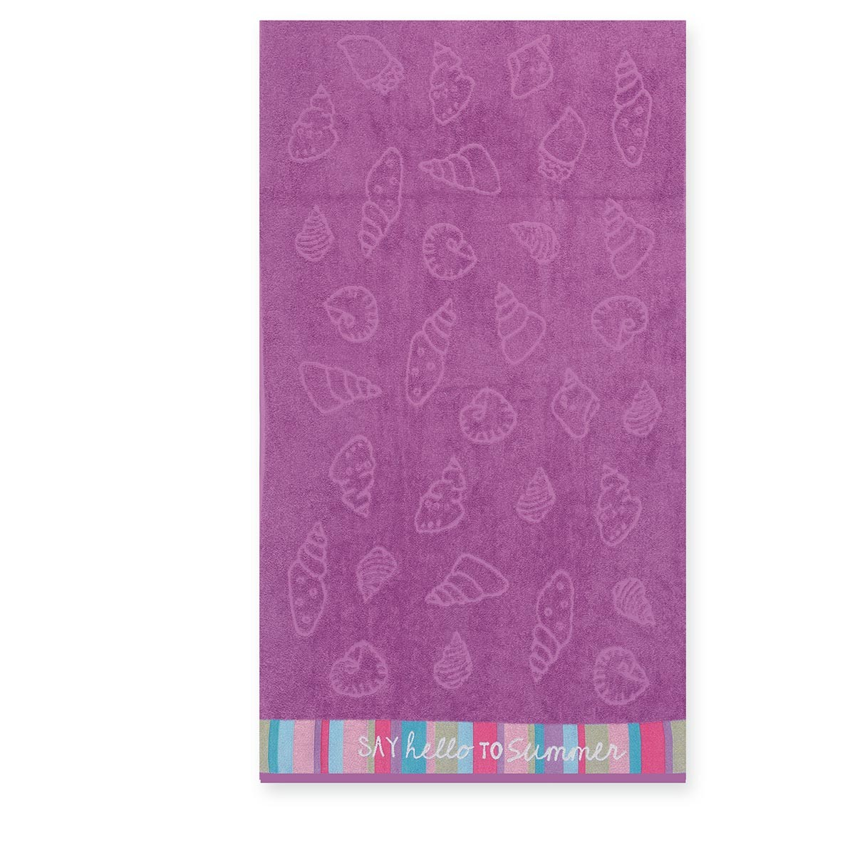 Παιδική Πετσέτα Θαλάσσης Nef-Nef Shell Purple home   θαλάσσης   πετσέτες θαλάσσης παιδικές
