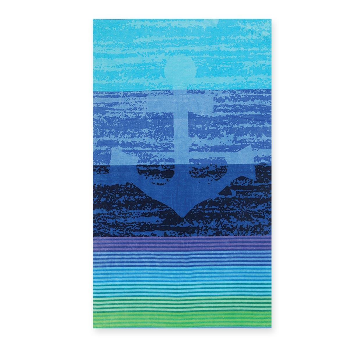 Πετσέτα Θαλάσσης Nef-Nef Jacquard Anchor Blue