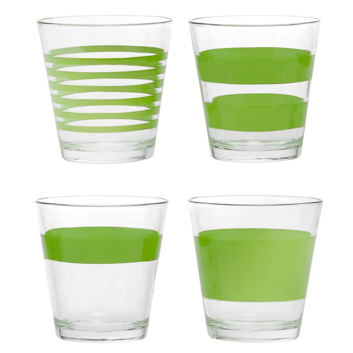 Ποτήρια Ουίσκι (Σετ 4τμχ) Salt & Pepper Green AER800721