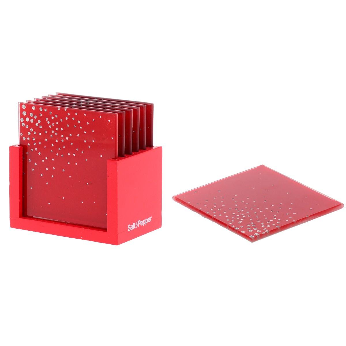 Σουβέρ (Σετ 6τμχ) Salt & Pepper Coasters BAM39204