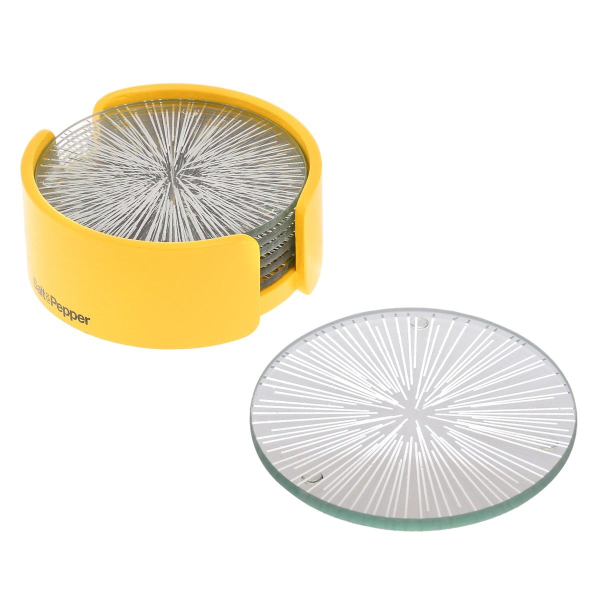 Σουβέρ (Σετ 6τμχ) Salt & Pepper Coasters BAM39929