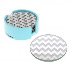 Σουβέρ (Σετ 6τμχ) Salt & Pepper Coasters BAM39930