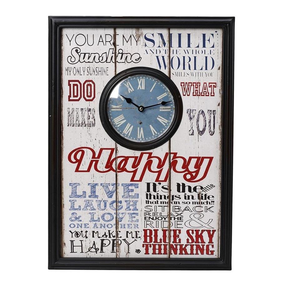 Ρολόι Τοίχου Happy Espiel LOG240 home   διακόσμηση   ρολόγια
