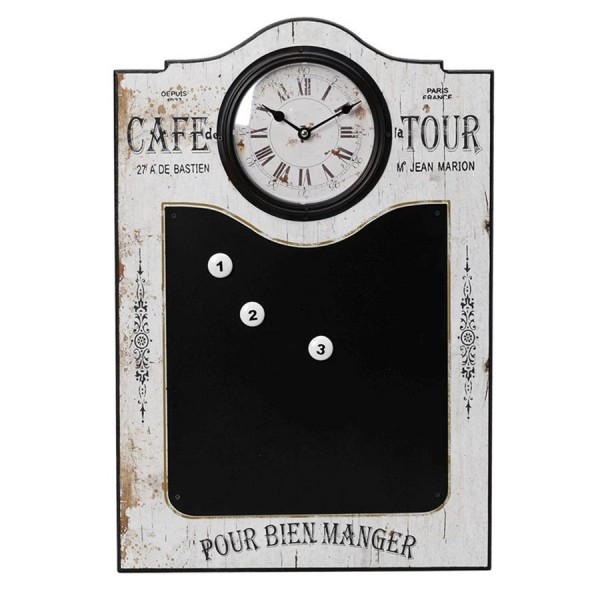 Ρολόι Τοίχου - Μαυροπίνακας Espiel LOG242