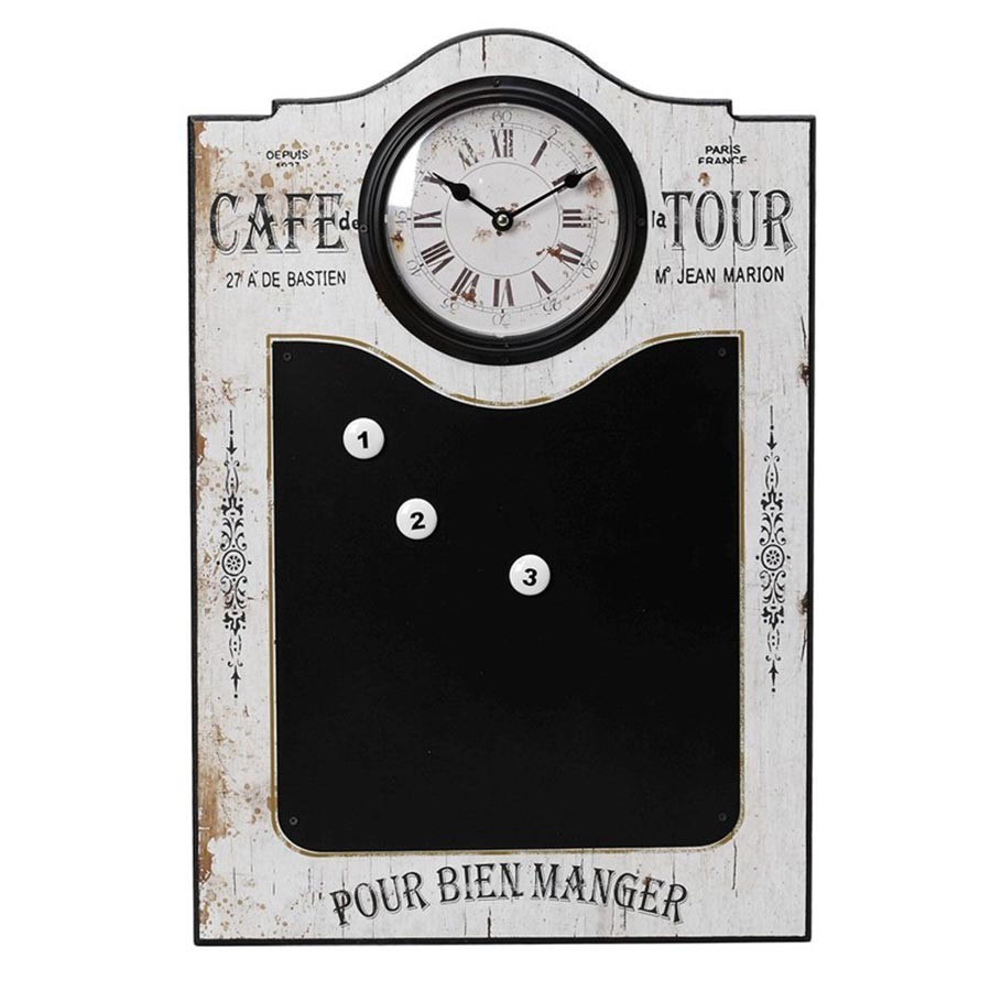 Ρολόι Τοίχου Με Μαυροπίνακα Espiel LOG242 home   διακόσμηση   ρολόγια