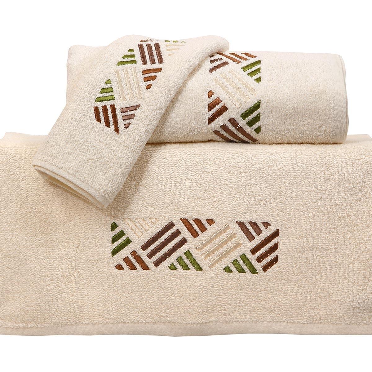 Πετσέτες Μπάνιου (Σετ 3τμχ) Viopros Applique Σχ29
