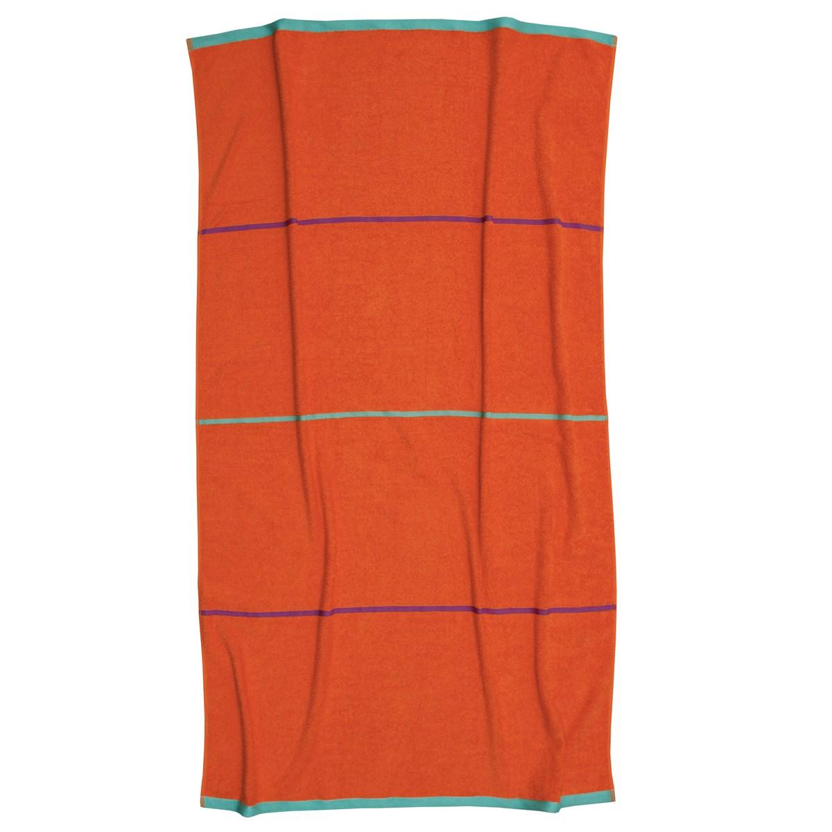 Πετσέτα Θαλάσσης Anna Riska Paros Orange