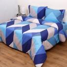 Παπλωματοθήκη Υπέρδιπλη (Σετ) Viopros Fresh Ένζο Μπλε