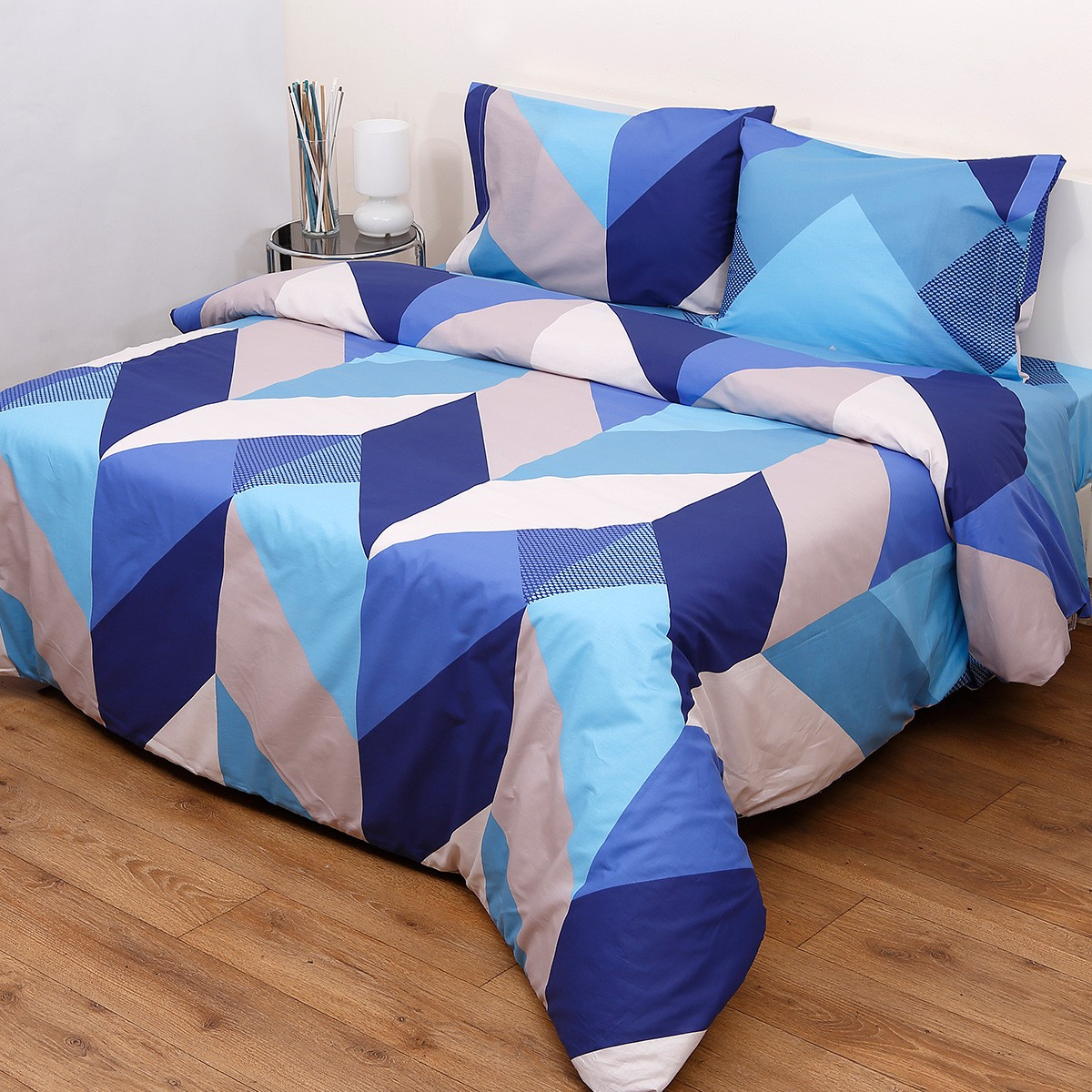 Κουβερλί Υπέρδιπλο (Σετ) Viopros Fresh Ένζο Μπλε