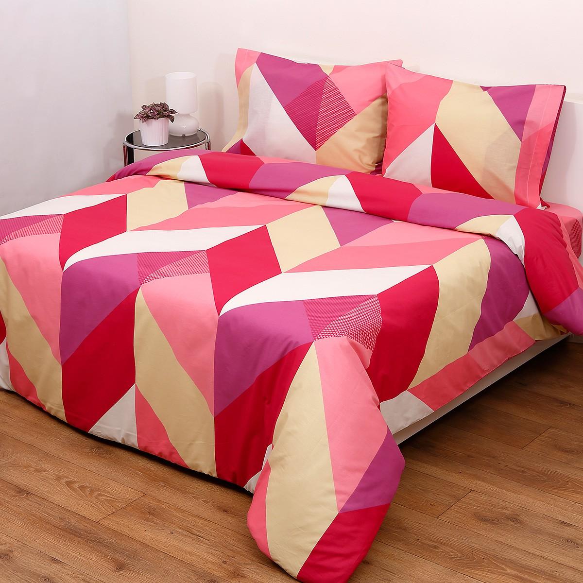 Πάπλωμα Ημίδιπλο (Σετ) Viopros Fresh Ένζο Φούξια home   κρεβατοκάμαρα   παπλώματα   παπλώματα ημίδιπλα   διπλά