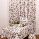 Κουρτίνα (280×270) Με Τρέσα Viopros Curtains Τοπάζ