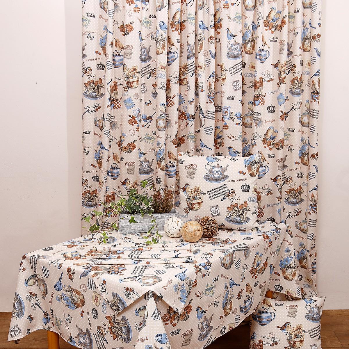 Κουρτίνα (280x270) Με Τρέσα Viopros Curtains Τοπάζ