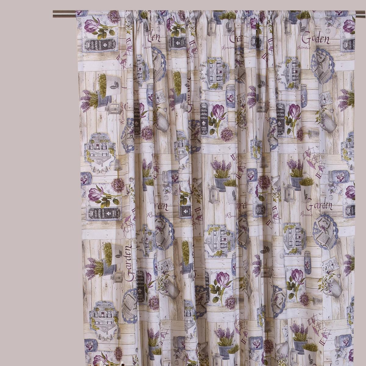 Κουρτίνα (160x270) Με Τρέσα Viopros Curtains Γκάρντεν