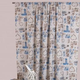 Κουρτίνα (160x270) Με Τρέσα Viopros Curtains Αστερίας