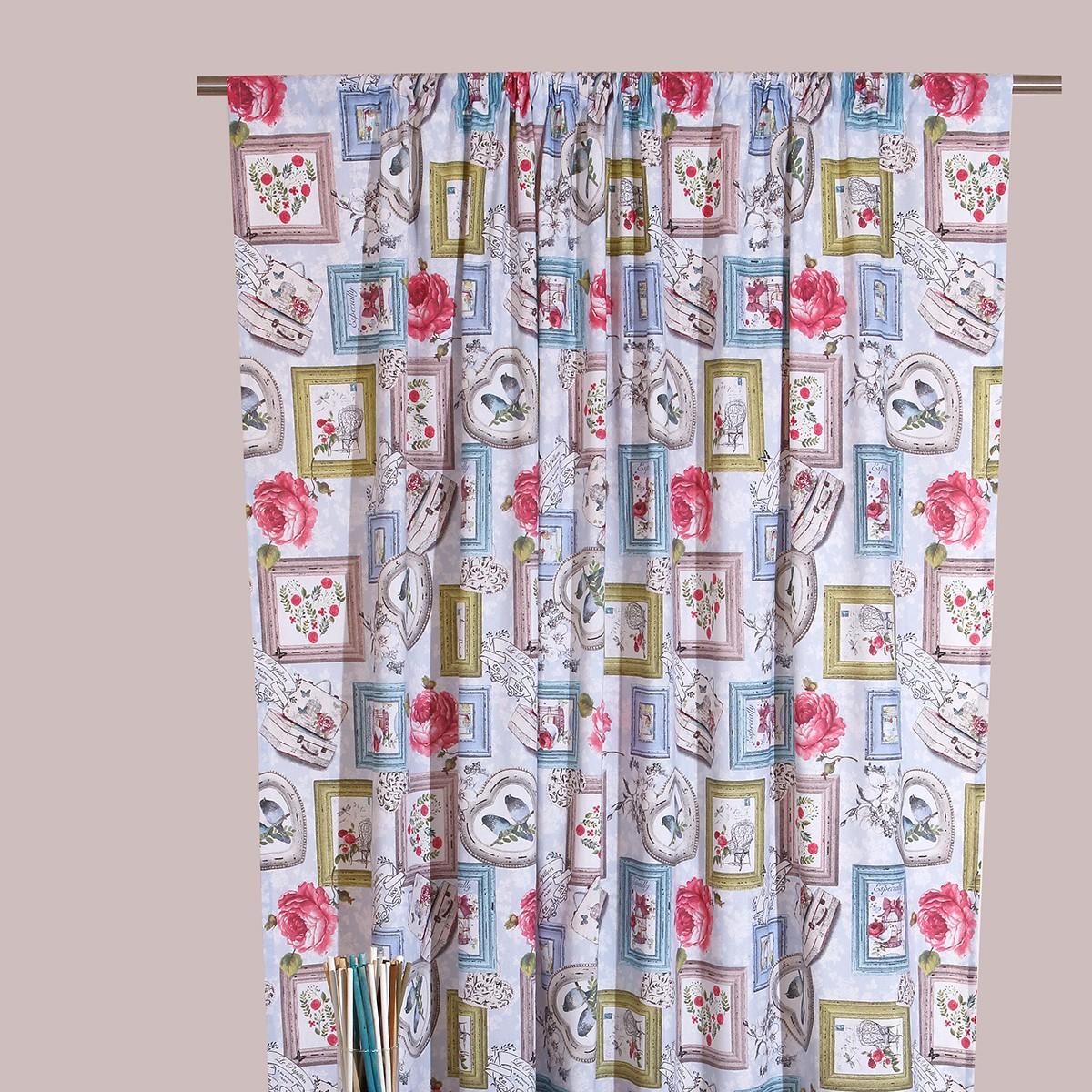 Κουρτίνα (160x270) Με Τρέσα Viopros Curtains Αμάρε