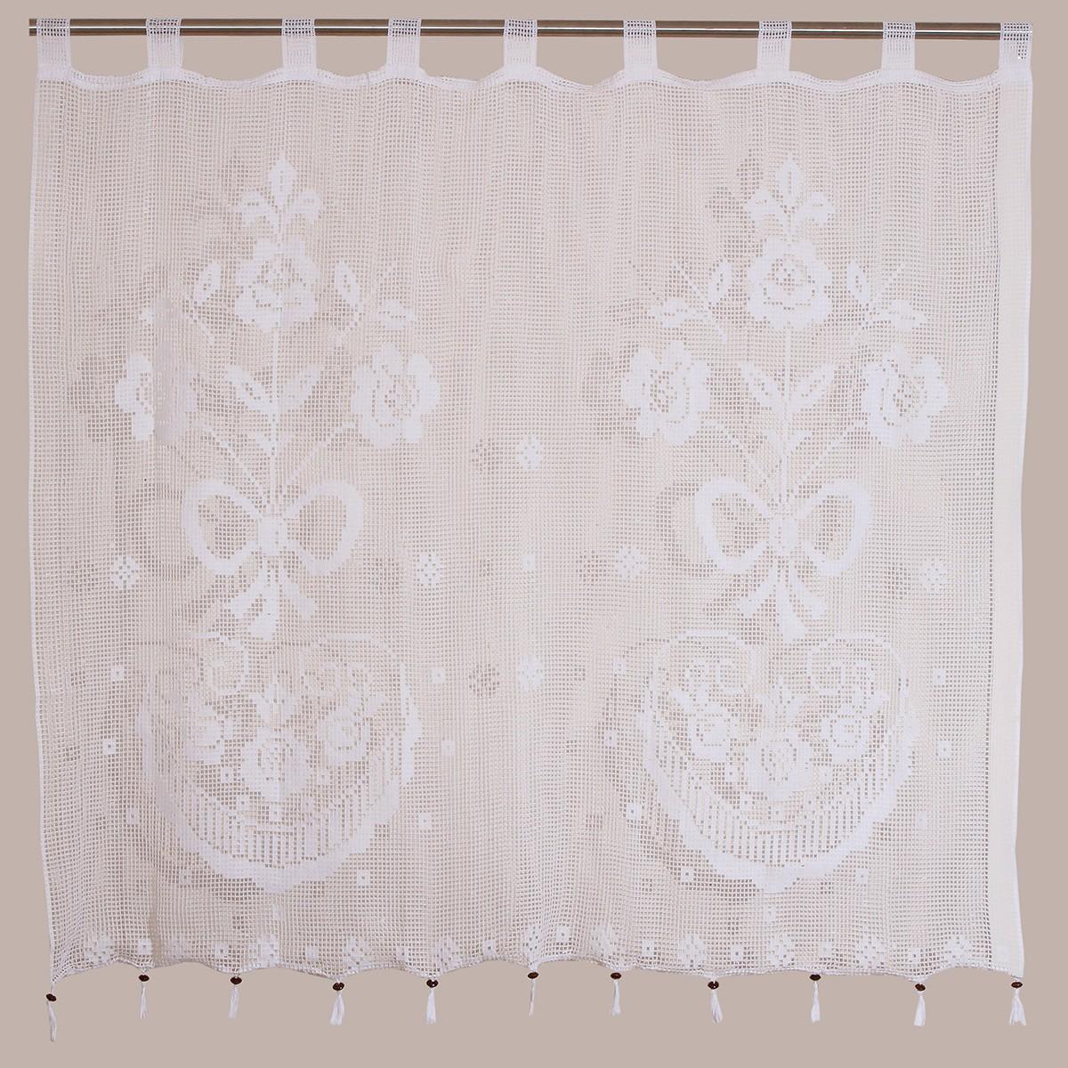 Κουρτίνα Πλεκτή (120x150) Με Θηλιές Viopros Curtain Ideas 3650 home   κουζίνα   τραπεζαρία   κουρτίνες κουζίνας