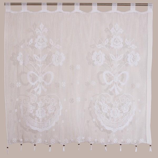 Κουρτίνα Πλεκτή (160x160) Με Θηλιές Viopros Curtain Ideas 3650