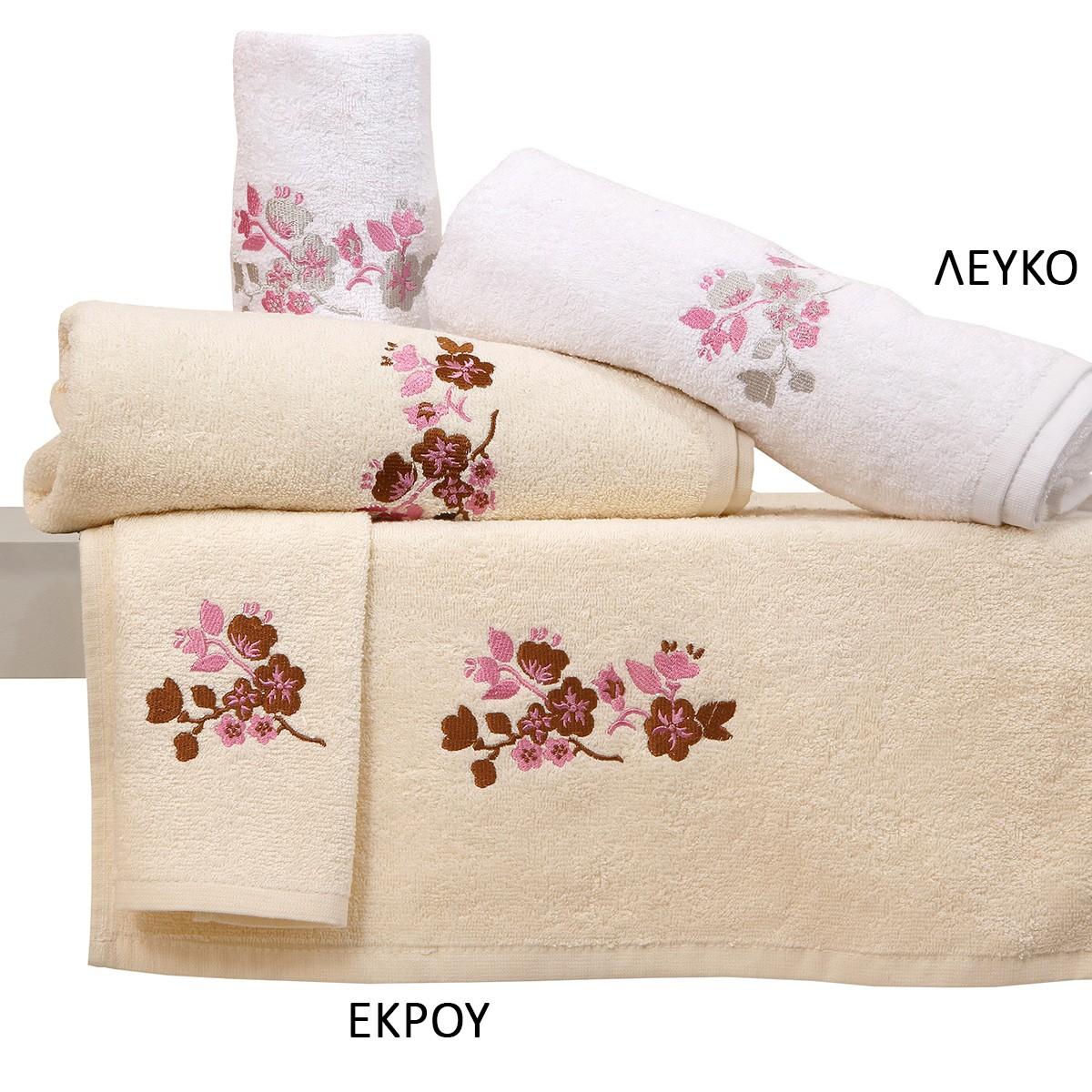 Πετσέτες Μπάνιου (Σετ 3τμχ) Viopros Applique Bath Σχ 11