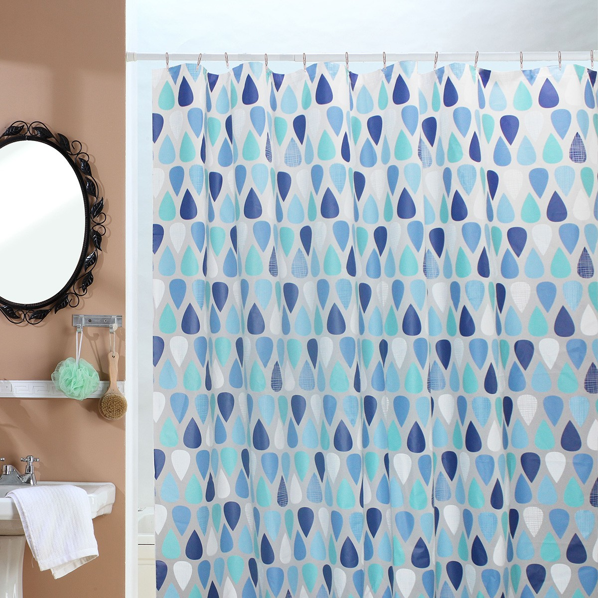 Κουρτίνα Μπάνιου Πλαστική (180x200) Viopros Ρέιν