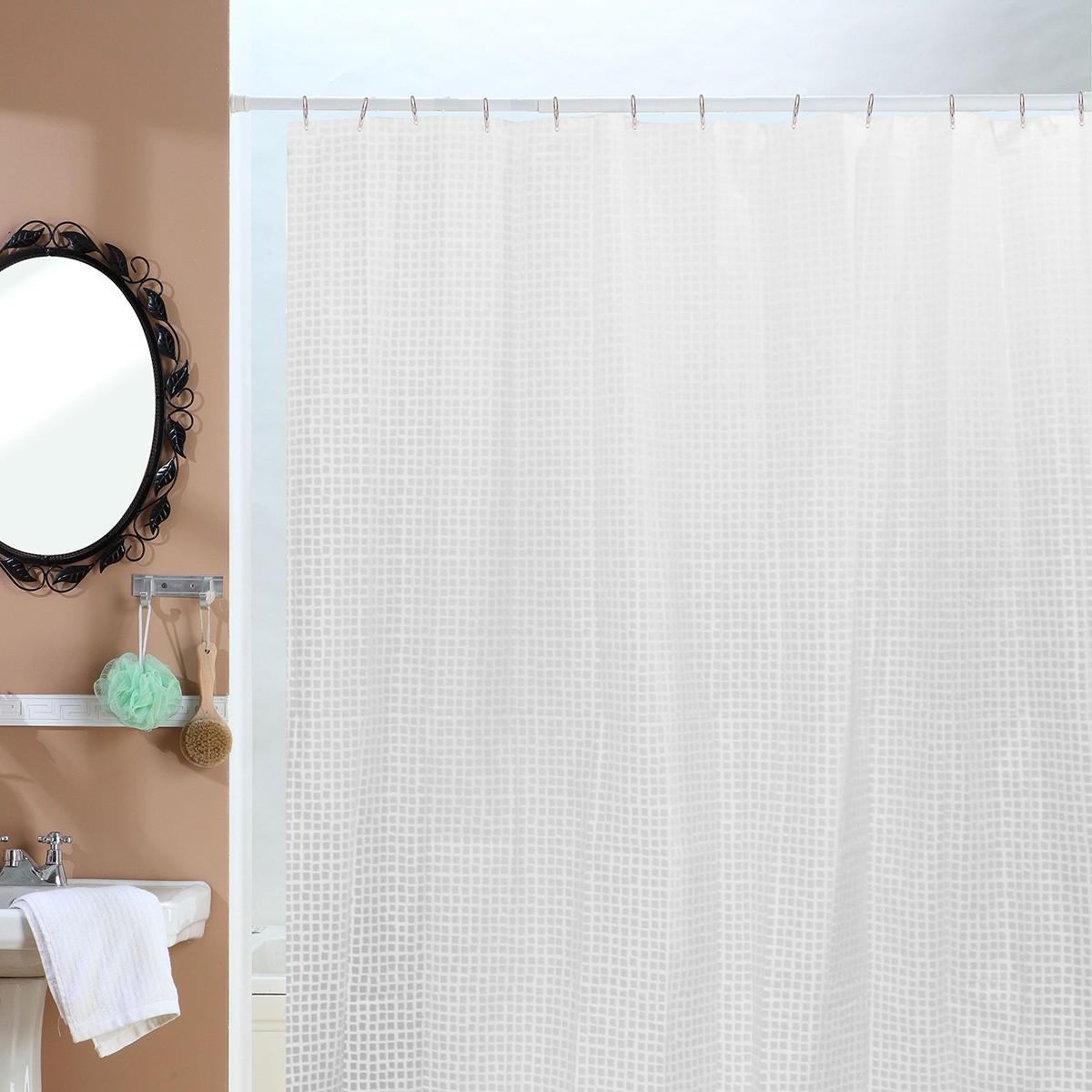 Κουρτίνα Μπάνιου Πλαστική (180×200) Viopros Κιούμπικ