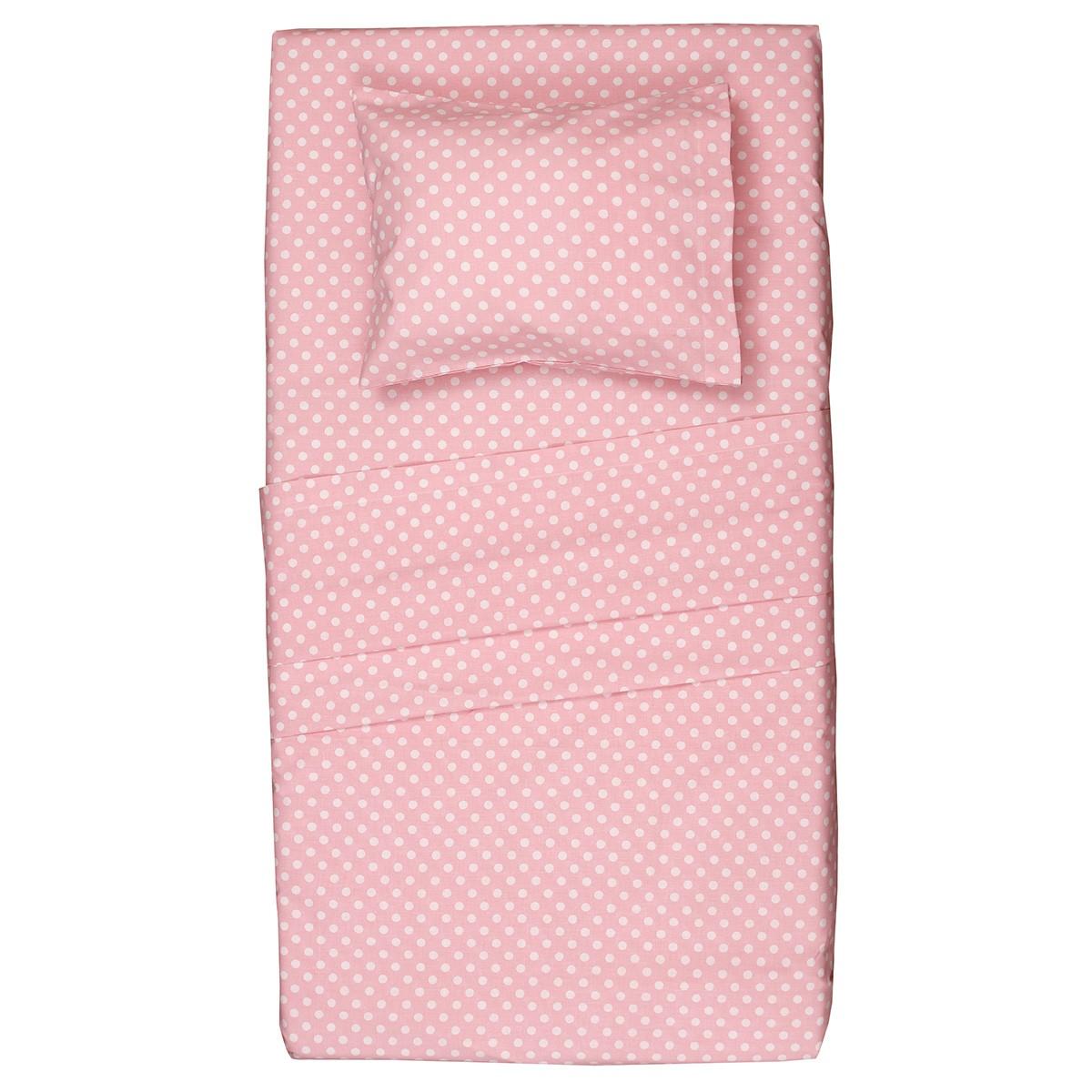 Κουβερλί Μονό (Σετ) Viopros Kid Baby Κονφετί Ροζ