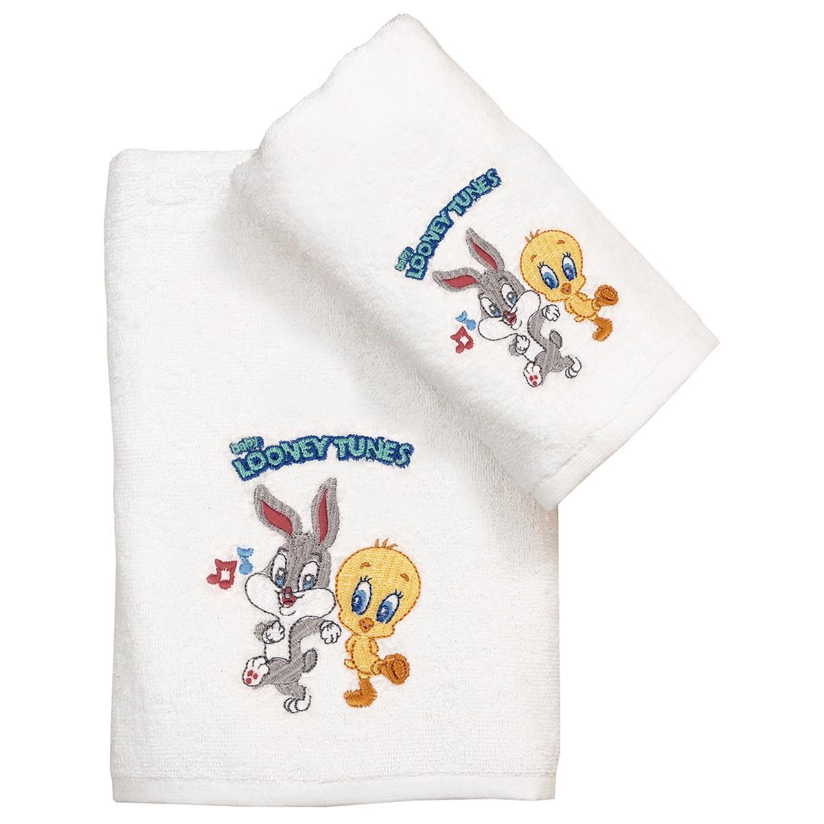Παιδικές Πετσέτες (Σετ 2τμχ) Viopros Looney Tunes 21