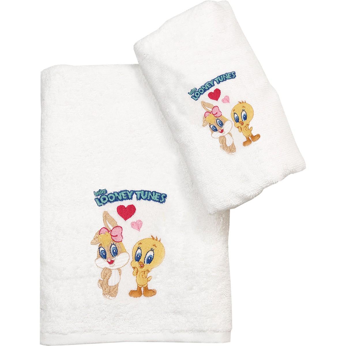 Παιδικές Πετσέτες (Σετ 2τμχ) Viopros Looney Tunes 22