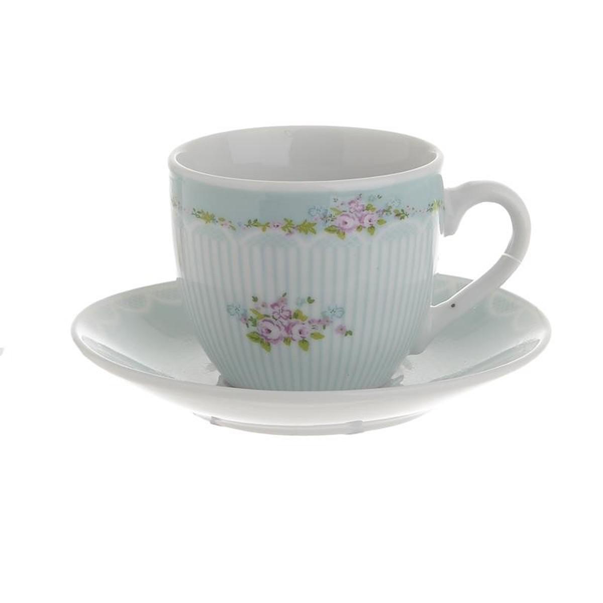 Φλυτζάνια Καφέ + Πιατάκια (Σετ 6τμχ) InArt 3-60-737-0009