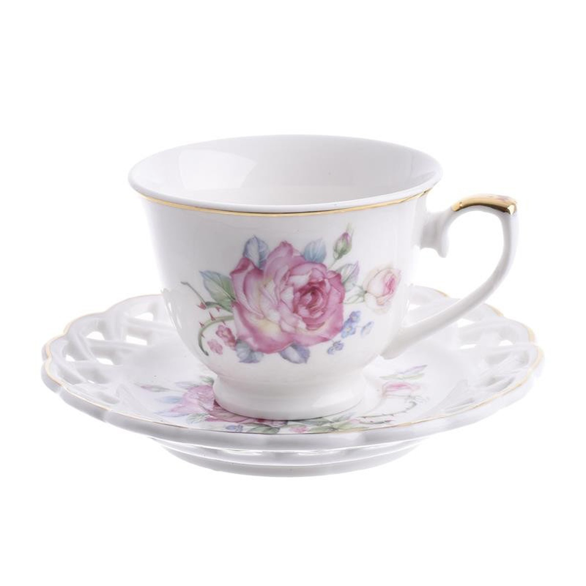 Φλυτζάνια Καφέ + Πιατάκια (Σετ 6τμχ) InArt 3-60-802-0002