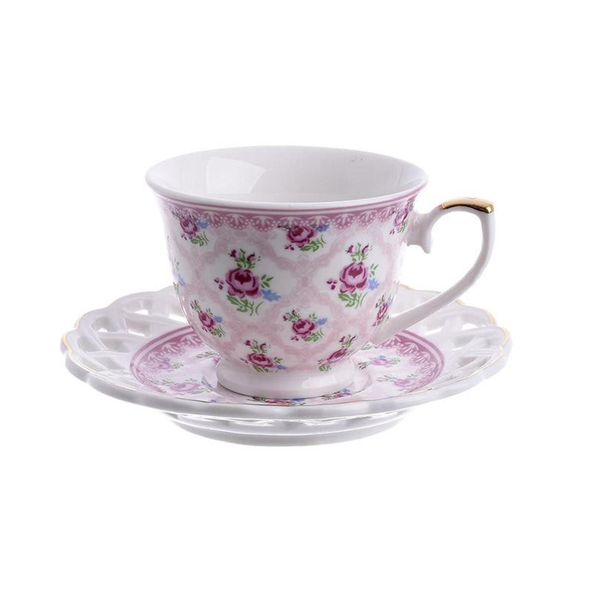 Φλυτζάνια Καφέ + Πιατάκια (Σετ 6τμχ) InArt 3-60-802-0012