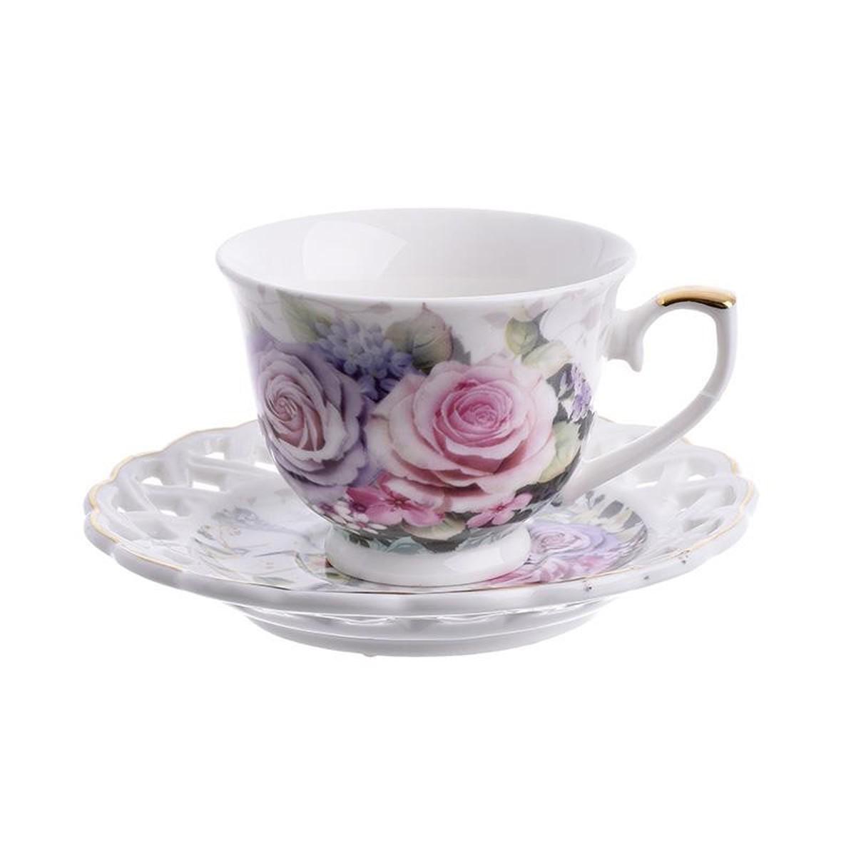 Φλυτζάνια Καφέ + Πιατάκια (Σετ 6τμχ) InArt 3-60-802-0023
