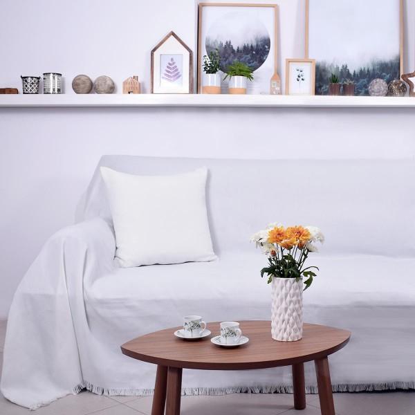 Ριχτάρι Τριθέσιου (180x300) Ravelia Frugal White