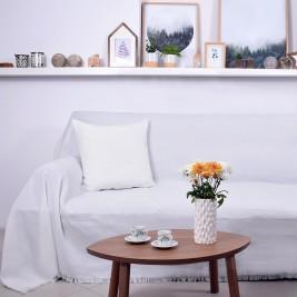 Ριχτάρι Τετραθέσιου (180x350) Ravelia Frugal White