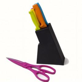 Μαχαίρια Κουζίνας + Ψαλίδι (Σετ 6τμχ) Espiel SLC104