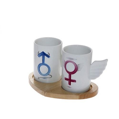 Φλυτζάνια Καφέ (Σετ 2τμχ) Espiel Male-Female DEV102