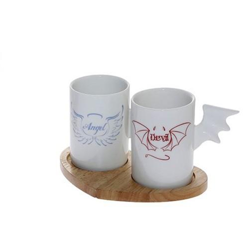 Φλυτζάνια Καφέ (Σετ 2τμχ) Espiel Angel-Devil DEV104