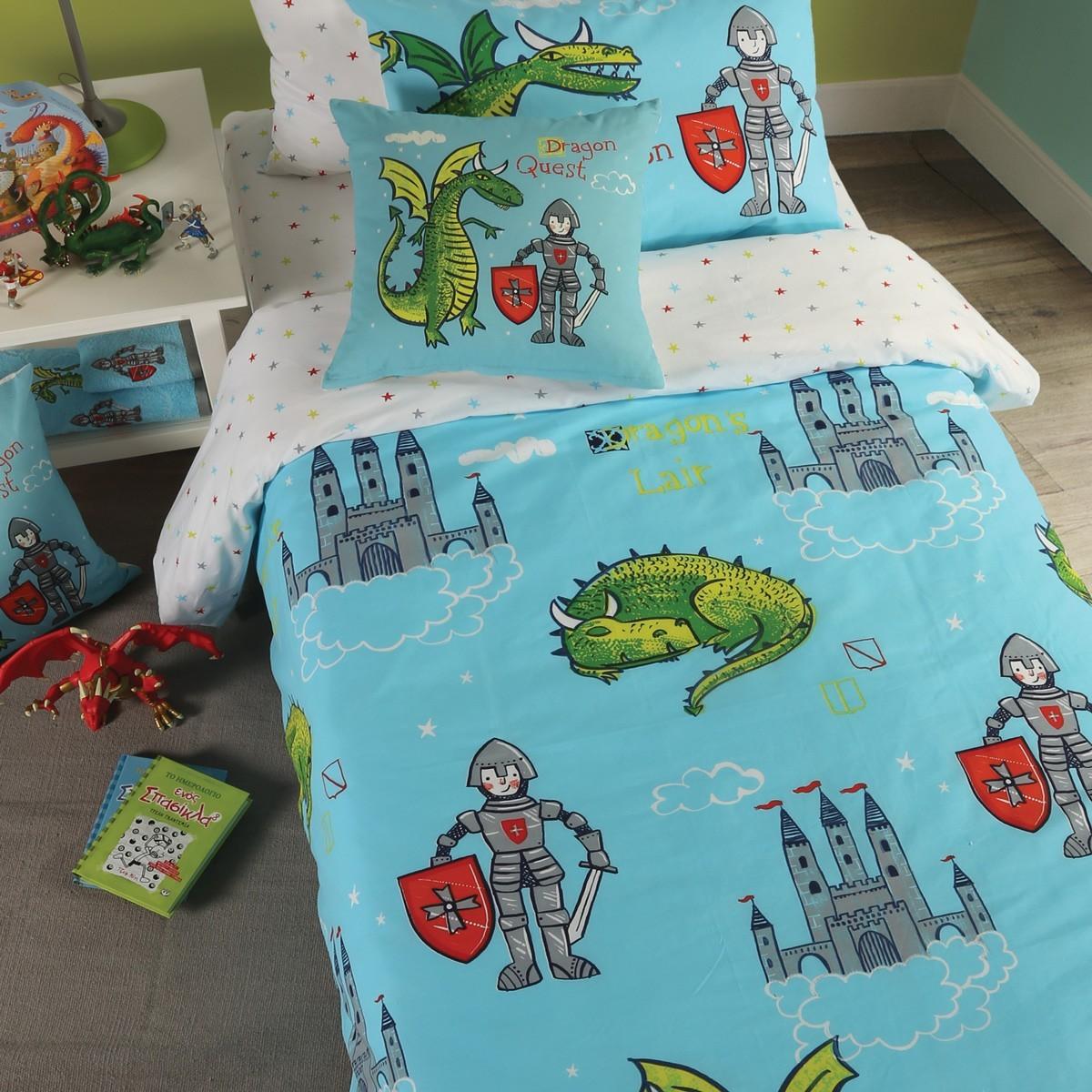 Κουβέρτα Πικέ Μονή Nef-Nef Junior Dragon Quest home   παιδικά   κουβέρτες παιδικές   κουβέρτες καλοκαιρινές
