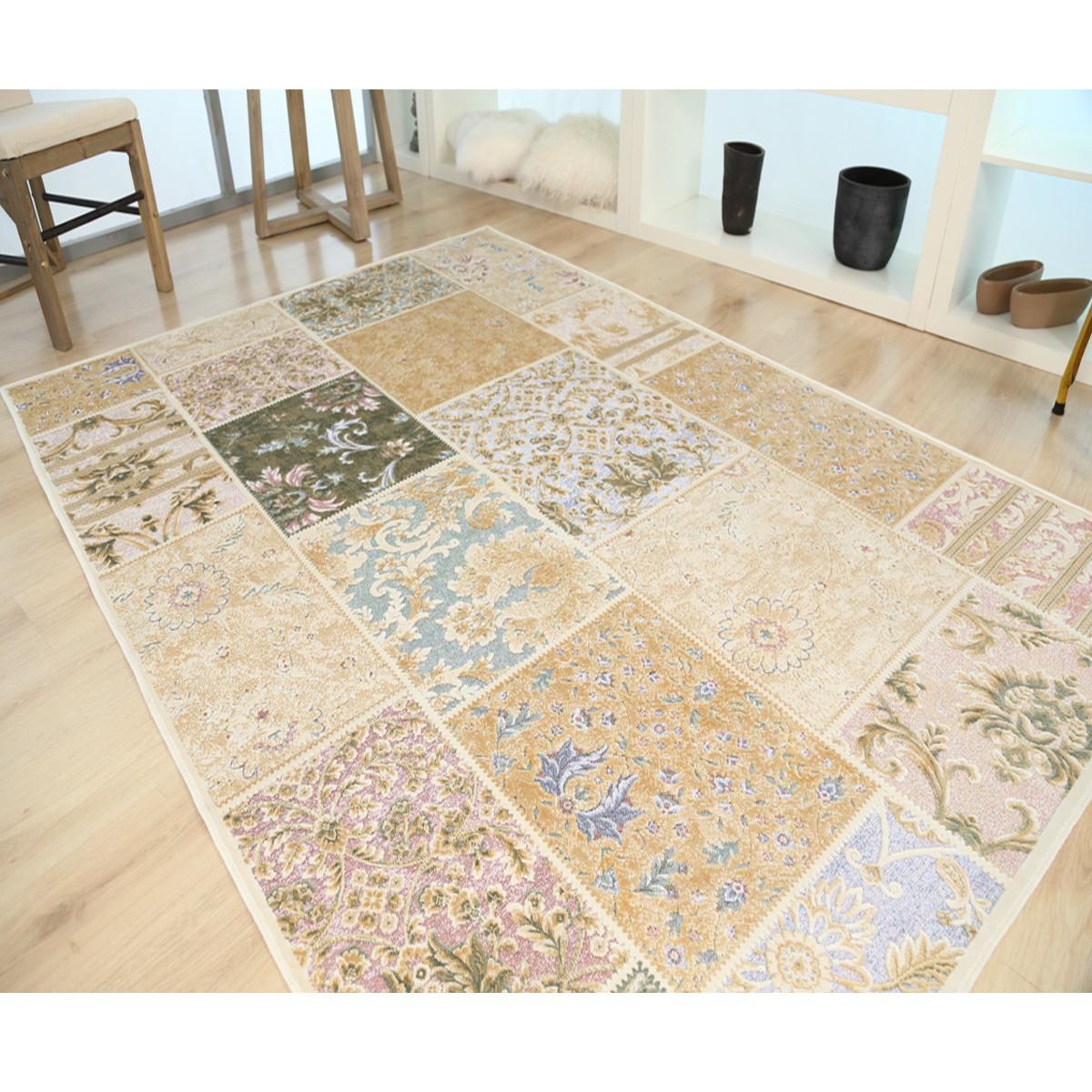 Καλοκαιρινό Χαλί (133×190) Royal Carpets Broderi G017 Ivory