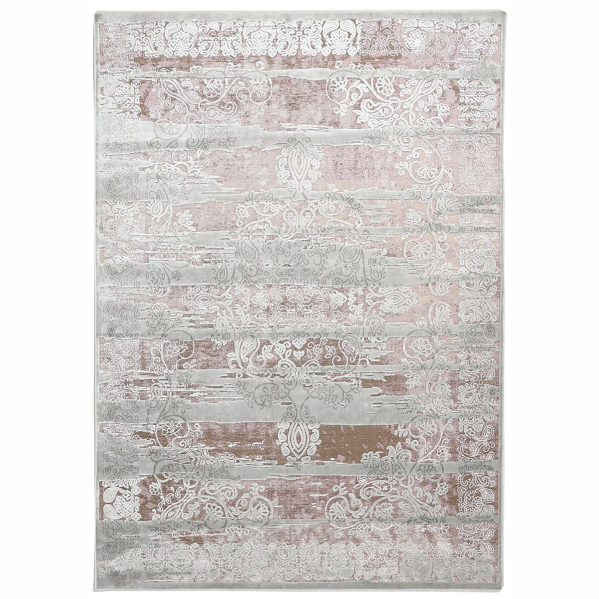 Καλοκαιρινό Χαλί (160x230) Royal Carpets Broderi G029 Silver