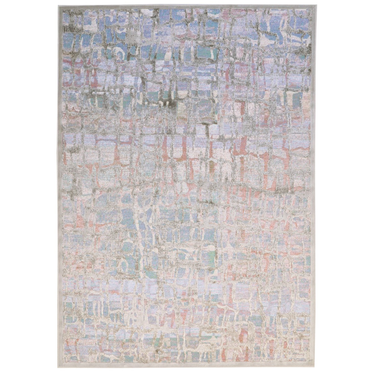 Καλοκαιρινό Χαλί (160x230) Royal Carpets Broderi G053 Silver