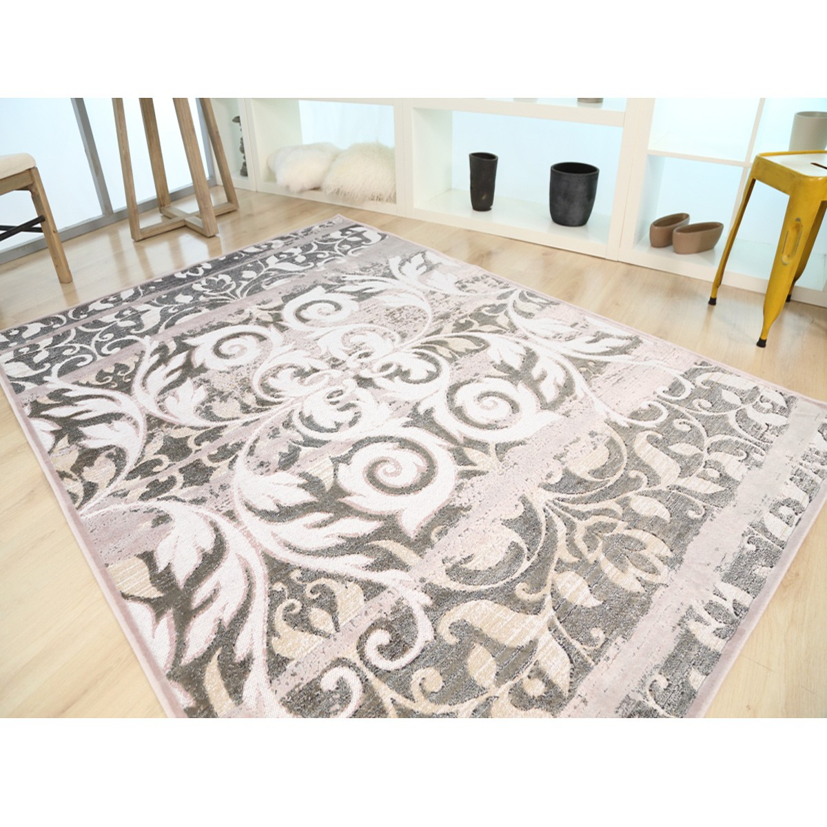 Καλοκαιρινό Χαλί (133x190) Royal Carpets Broderi G061B Plum