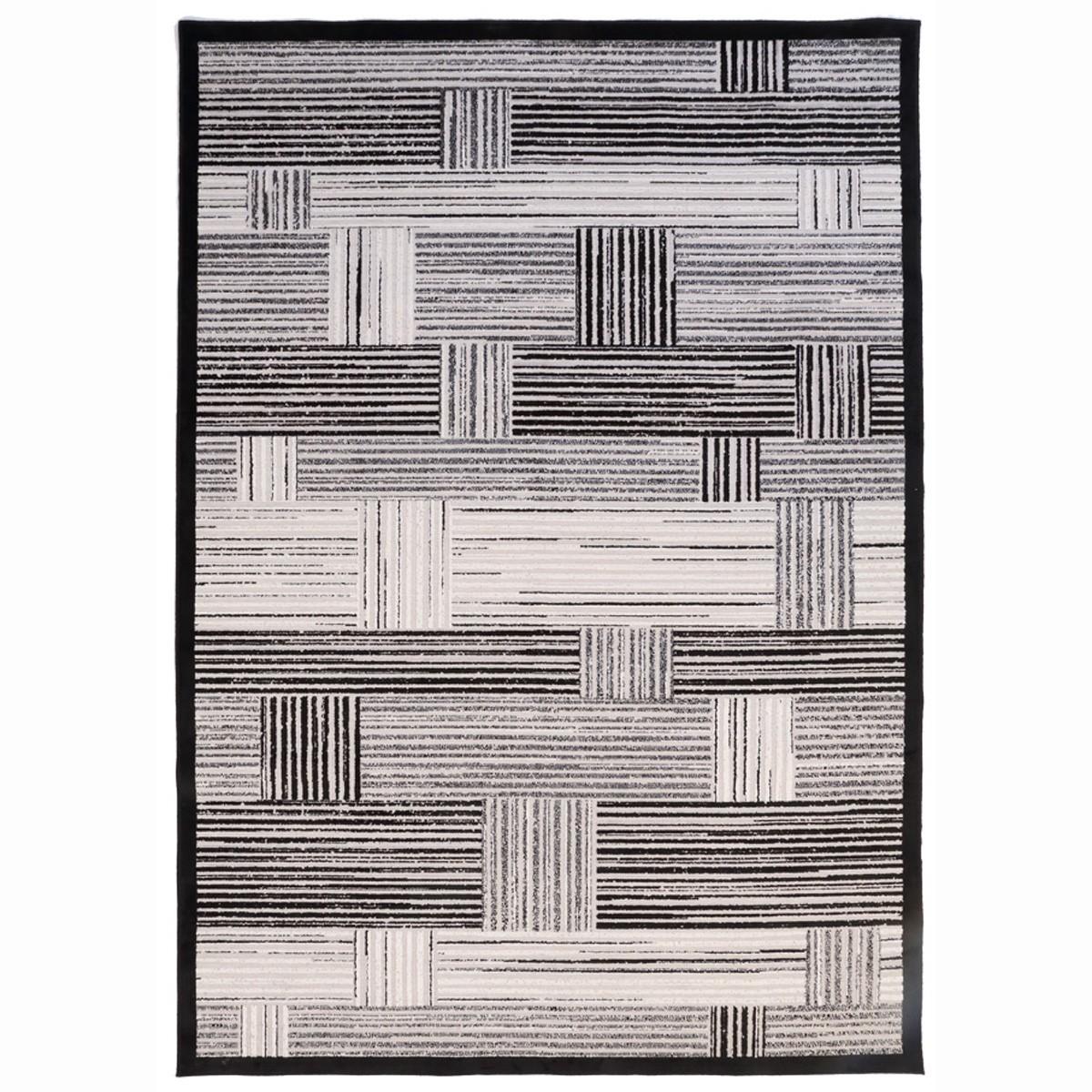 Καλοκαιρινό Χαλί (160x230) Royal Carpets Soho Black 1711 65