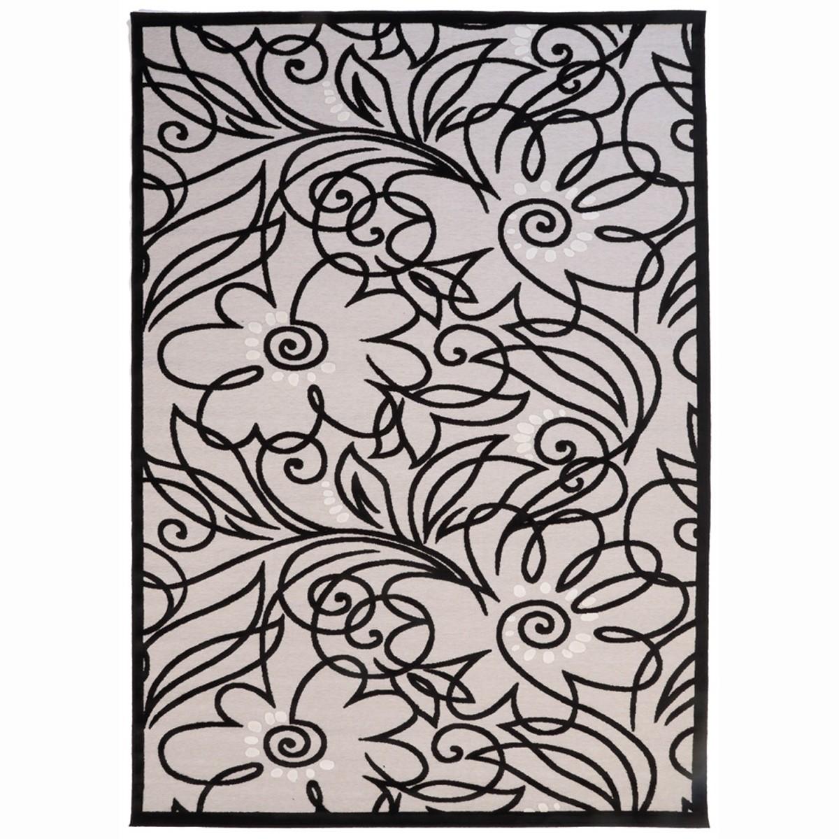 Καλοκαιρινό Χαλί (160x230) Royal Carpets Soho Black 1890 65