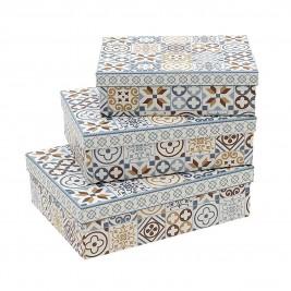 Κουτιά Αποθήκευσης (Σετ 3τμχ) InArt 3-70-144-0280