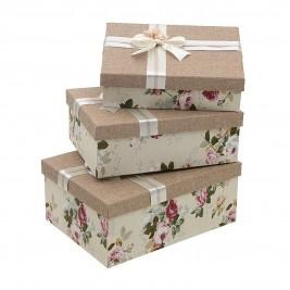 Κουτιά Αποθήκευσης (Σετ 3τμχ) InArt 3-70-627-0015