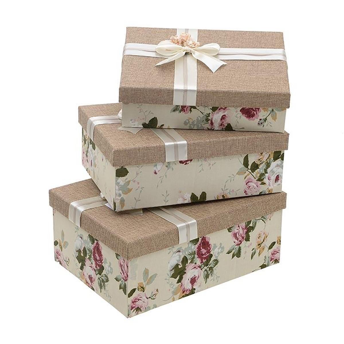 Κουτιά Αποθήκευσης (Σετ 3τμχ) InArt 3-70-627-0015 72797