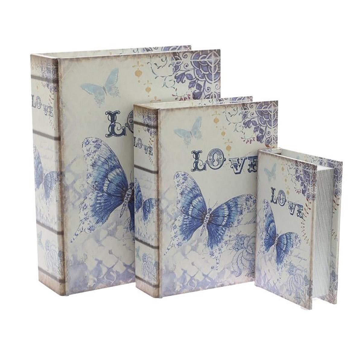 Κουτιά/Βιβλία Αποθήκευσης (Σετ 3τμχ) InArt 3-70-358-0056