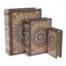 Κουτιά/Βιβλία Αποθήκευσης (Σετ 3τμχ) InArt 3-70-358-0057