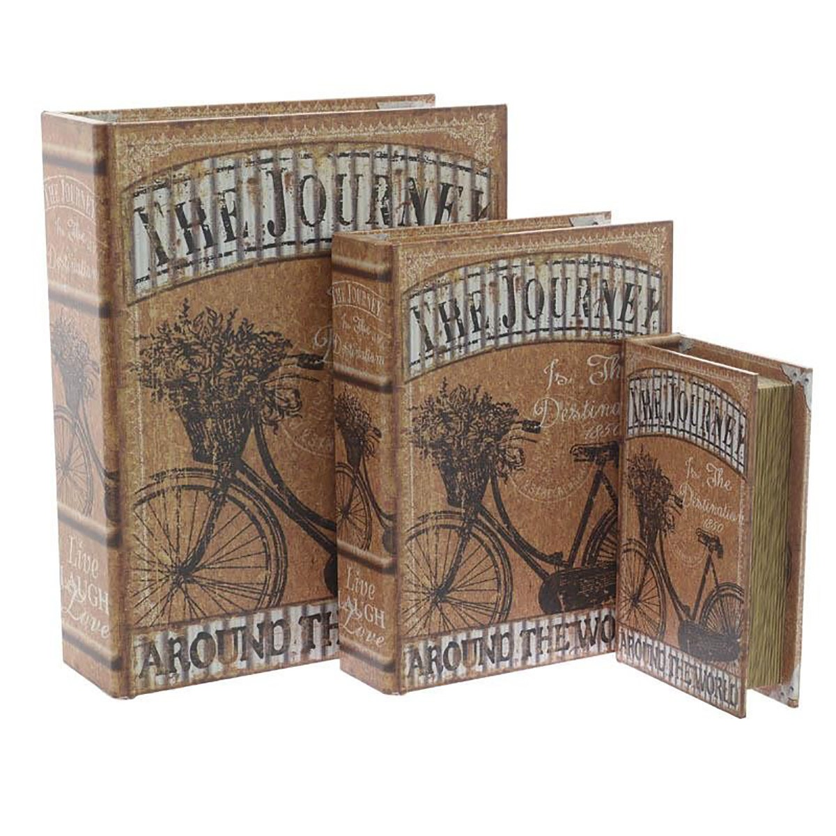 Κουτιά/Βιβλία Αποθήκευσης (Σετ 3τμχ) InArt 3-70-358-0058